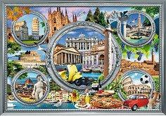 """Забележителности в Италия - Пъзел от колекцията """"Premium Quality"""" - пъзел"""