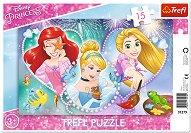 """Ариел, Пепеляшка и Рапунцел - Пъзел с едри елементи от серията """"Принцесите на Дисни"""" -"""