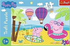 """Почивка на плажа - Пъзел с едри елементи от серията """"Peppa Pig"""" - пъзел"""