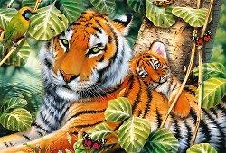 """Два тигъра - Пъзел от колекцията """"Premium Quality"""" - пъзел"""