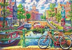 """Канал в Амстердам - Пъзел от колекцията """"Premium Quality"""" - пъзел"""