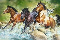 """Диви коне - Пъзел от колекцията """"Premium Quality"""" - пъзел"""