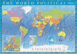 """Политическа карта - Пъзел от колекцията """"Premium Quality"""" - пъзел"""