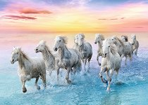 """Бели коне - Пъзел от колекцията """"Premium Quality"""" -"""