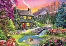 """Къща в планината - Пъзел от колекцията """"Premium Quality""""  -"""