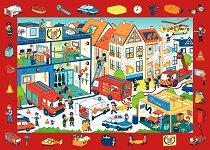 """Пожарна станция - Детски образователен пъзел от колекцията """"Observation Puzzle"""" - пъзел"""
