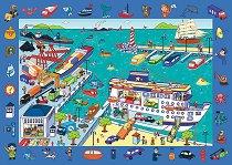 """Пристанище - Детски образователен пъзел от колекцията """"Observation Puzzle"""" -"""