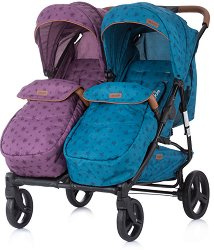 Бебешка количка за близнаци - Passo Doble 2020 - С 4 колела -