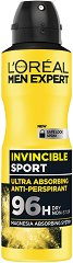 L'Oreal Men Expert Invincible Sport 96H Anti-Perspirant - Дезодорант против изпотяване за мъже - тампони