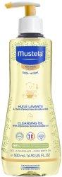 Mustela Cleansing Oil Dry Skin - Почистващо олио за бебета и деца за суха кожа -
