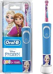 """Oral-B Braun Vitality Kids Disney Frozen Electric Toothbrush - Детска електрическа четка за зъби от серията """"Замръзналото кралство"""" - душ гел"""