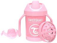 Неразливаща се чаша с мек накрайник, дръжки и приставка шейкър - Mini Cup 230 ml - За бебета над 4 месеца -
