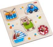 Играчки - Детски дървен пъзел с дръжки -