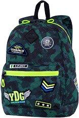 Ученическа раница - Cross: Badges B'Green -