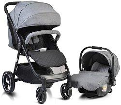 Бебешка количка 2 в 1 - Sindy - С 4 колела -