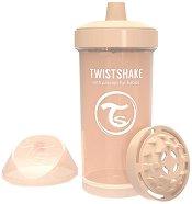 Неразливаща се чаша с твърд накрайник и приставка шейкър - Kid Cup 360 ml - пюре