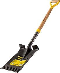 Права лопата с назъбен връх - С дръжка