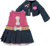 """Рокля и яке - Дънкова фантазия - Комплект дрехи за плюшени играчки от серията """"Lucky Doggy"""" -"""