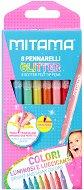 Флумастери - Glitter - Комплект от 8 цвята