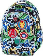 Ученическа раница с LED светлини - Joy S: Avengers Badges -