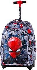 Ученическа раница с колелца - Jack: Spiderman Black - несесер