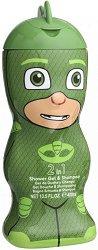 "PJ Masks Shower Gel & Shampoo - Gekko - Детски душ гел и шампоан 2 в 1 от серията ""PJ Masks"" -"