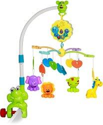 Музикална въртележка - Жабка - Играчка за бебешко креватче -
