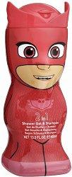 """PJ Masks Shower Gel & Shampoo - Owlette - Детски душ гел и шампоан 2 в 1 от серията """"PJ Masks"""" - душ гел"""