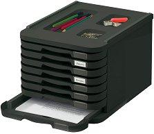 Кутия за документи с 8 чекмеджета - За формат A4 с размери 23 / 28.5 / 37.5 cm