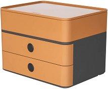 Кутия за документи с 2 чекмеджета и органайзер - Allison Smart-Box Plus - С размери 26 / 19 / 19.5 cm