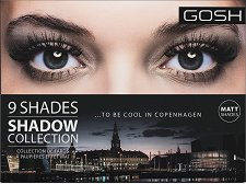 Gosh 9 Shades to be Cool in Copenhagen - Палитра с 9 цвята сенки за очи - душ гел