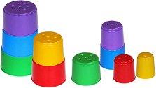 Кула от чаши - Играчка за сортиране - играчка