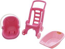 Комплект за кукли 3 в 1 - Розова линия - играчка