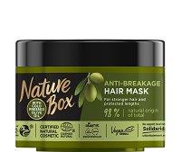 Nature Box Olive Oil Anti-Breakage Mask - Маска против накъсване за дълга коса с масло от маслина - сапун