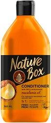 Nature Box Macadamia Oil Conditioner - Балсам за подхранена и гладка коса с масло от макадамия - продукт