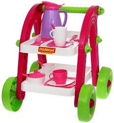 Маса за сервиране - Детски комплект за игра -