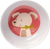 Детска меламинова купичка - Кученце - За бебета над 12 месеца -