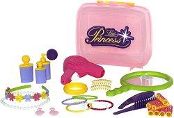 Преносим фризьорски комплект - Малка принцеса - Детски комплект за игра -
