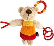 Мече - Мека бебешка играчка с дрънкалка -