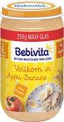 Bebivita - Био каша от ябълки и банан с пълнозърнести култури - Бурканче от 250 g за бебета над 6 месеца -
