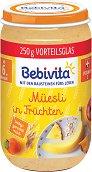 Bebivita - Каша от плодове с мюсли - Бурканче от 250 g за бебета над 6 месеца -