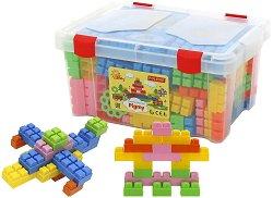 Детски конструктор в куфарче - Комплект от 182 елемента - играчка