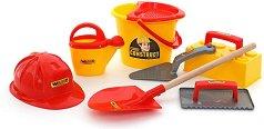 Комплект за игра с пясък - Строителни инструменти - топка