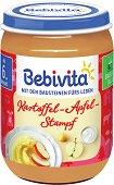 Bebivita - Пюре от картофи с ябълка - Бурканче от 190 g за бебета над 6 месеца - пюре