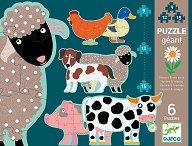 Животни от фермата - Комплект от 6 пъзела -