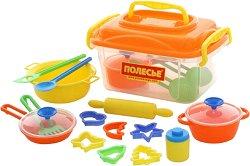 Готварско куфарче - Детски комплект за игра -