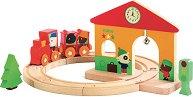 ЖП гара - Детска дървена играчка - играчка