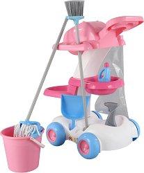 Количка за почистване - Детски комплект за игра -