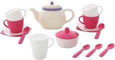 Сервиз за чай - Алиса - Детски комплект за игра -