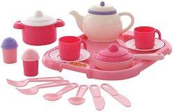 Сервиз за чай - Настя - Детски комплект за игра -